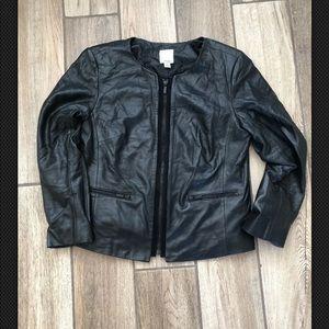 Halogen 100% leather nordstrom jacket Med
